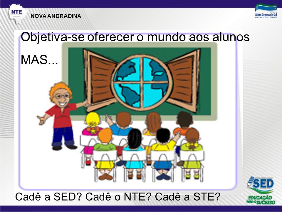 Objetiva-se oferecer o mundo aos alunos MAS... Cadê a SED Cadê o NTE Cadê a STE NOVA ANDRADINA