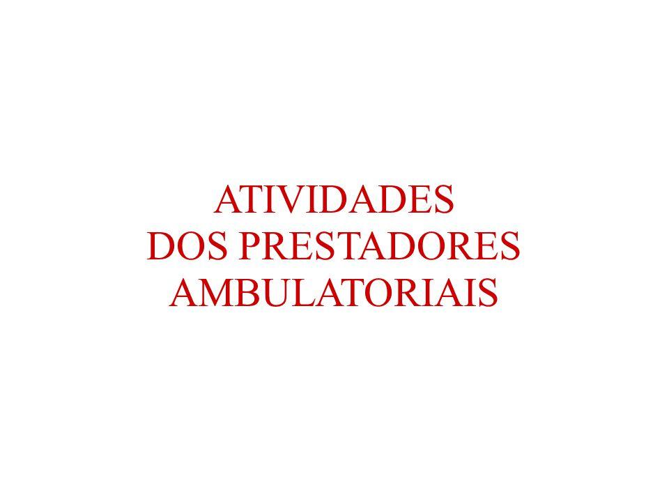 ATIVIDADES DOS PRESTADORES AMBULATORIAIS