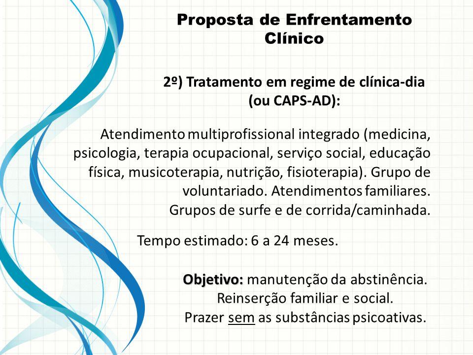 Objetivo: Objetivo: manutenção da abstinência.Reinserção familiar e social.