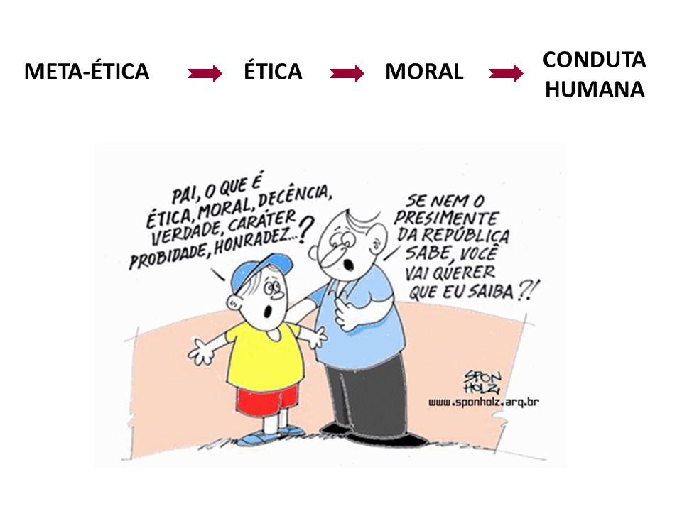 META-ÉTICAÉTICAMORAL CONDUTA HUMANA