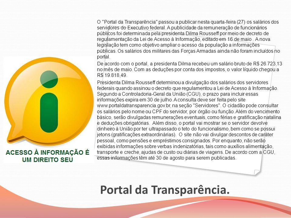 Portal da Transparência. O
