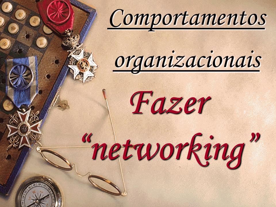 """Fazer """"networking"""" Comportamentos organizacionais"""