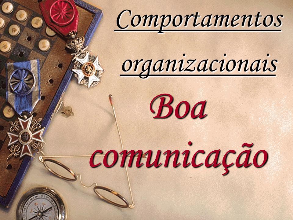 Boacomunicação Comportamentos organizacionais