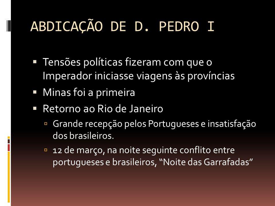 ABDICAÇÃO DE D.