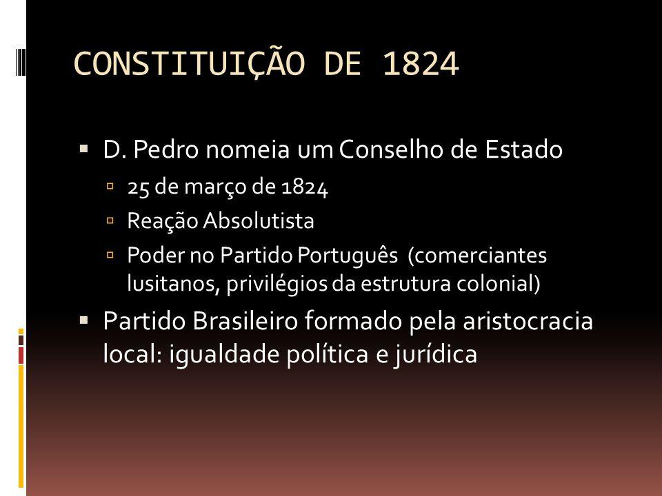CONSTITUIÇÃO DE 1824  D.