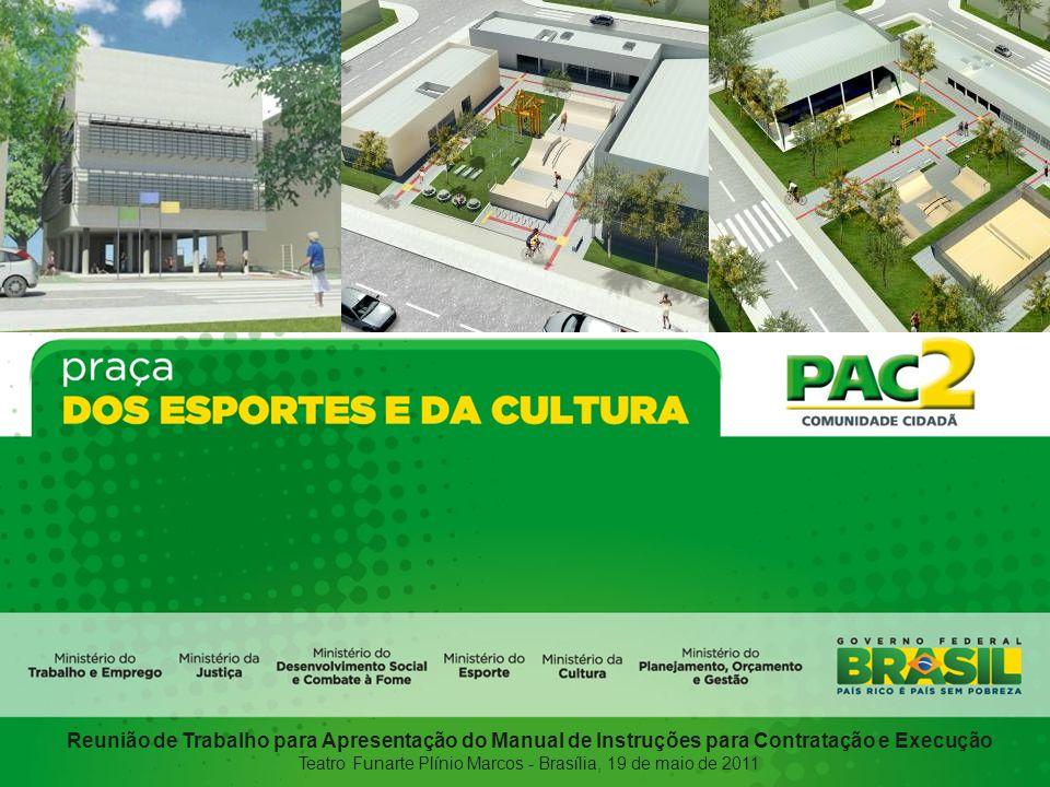 Reunião de Trabalho para Apresentação do Manual de Instruções para Contratação e Execução Teatro Funarte Plínio Marcos - Brasília, 19 de maio de 2011