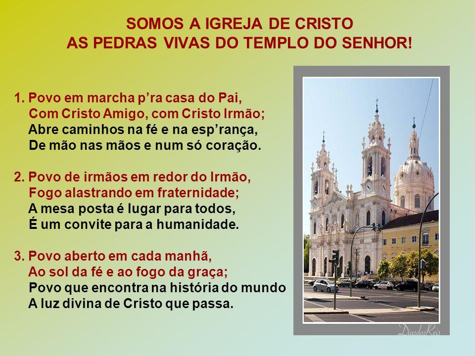SOMOS A IGREJA DE CRISTO AS PEDRAS VIVAS DO TEMPLO DO SENHOR.