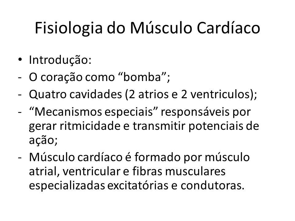 """Fisiologia do Músculo Cardíaco • Introdução: -O coração como """"bomba""""; -Quatro cavidades (2 atrios e 2 ventriculos); -""""Mecanismos especiais"""" responsáve"""