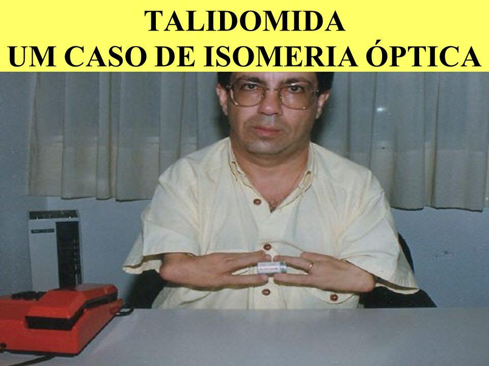 TIPO DE ISÔMEROS ÓPTICOS ANTÍPODAS ÓPTICOS A.ISÔMERO DEXTRÓGIRO ( d + ) B.ISÔMERO LEVÓGIRO ( l - ) d + DESVIA O PLANO DE LUZ PARA À DIREITA. l - DESVI