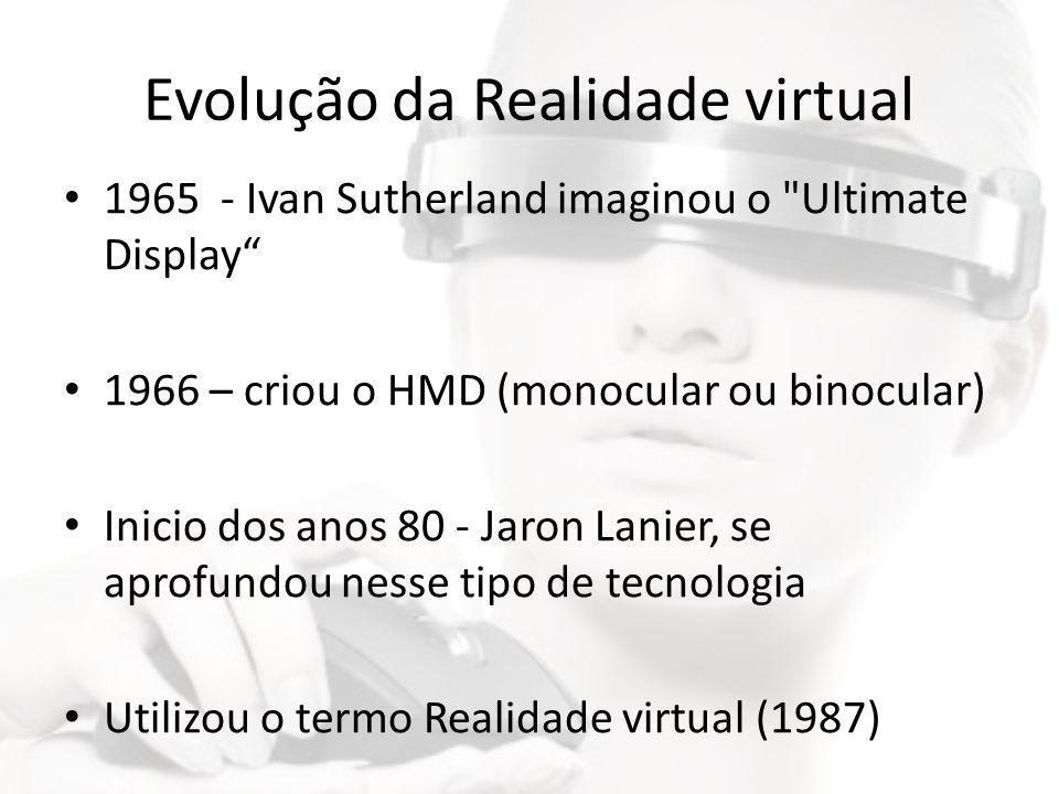 Evolução da Realidade virtual • 1965 - Ivan Sutherland imaginou o