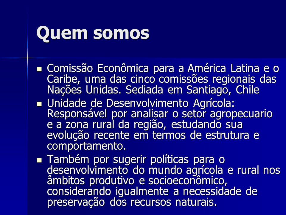 Quem somos  Comissão Econômica para a América Latina e o Caribe, uma das cinco comissões regionais das Nações Unidas.