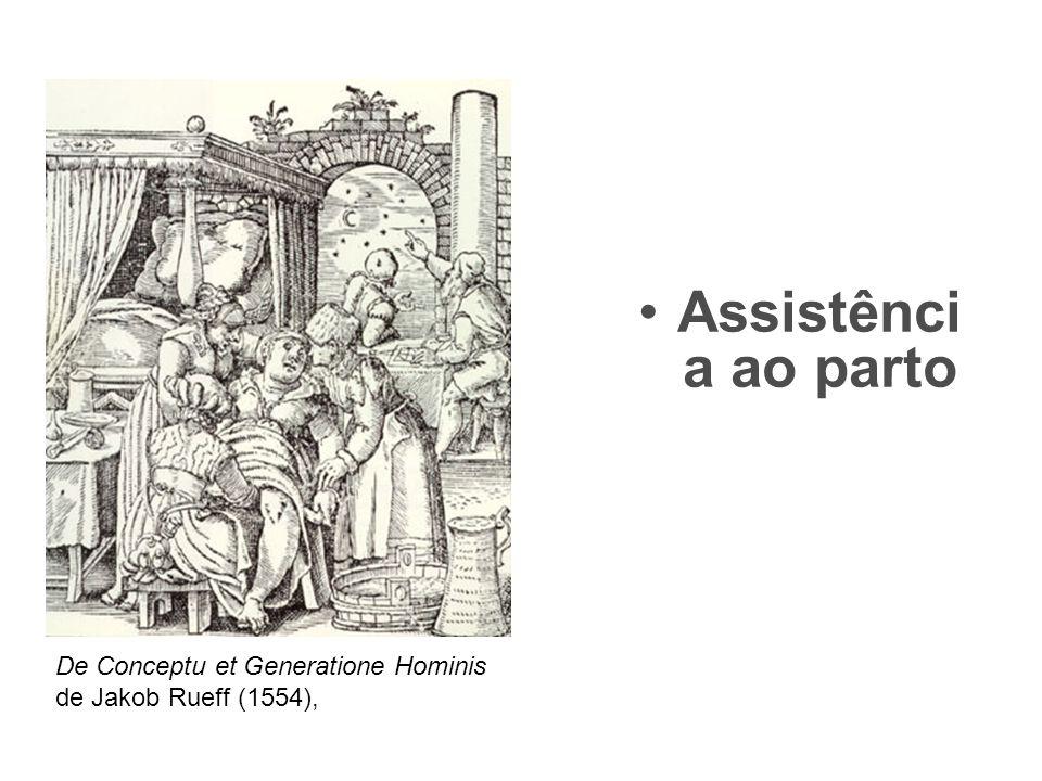 •Assistênci a ao parto De Conceptu et Generatione Hominis de Jakob Rueff (1554),