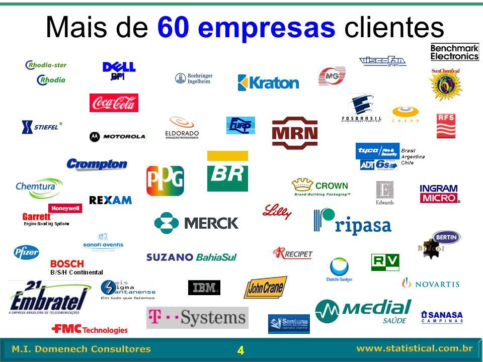 4 Mais de 60 empresas clientes