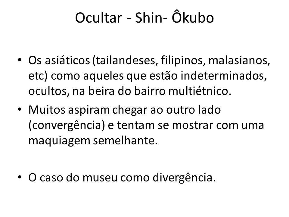 Ocultar - Shin- Ôkubo • Os asiáticos (tailandeses, filipinos, malasianos, etc) como aqueles que estão indeterminados, ocultos, na beira do bairro mult