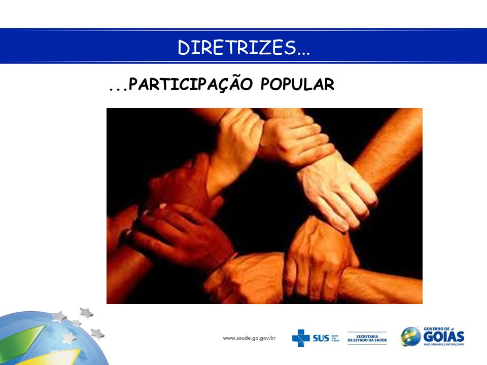 ...PARTICIPAÇÃO POPULAR DIRETRIZES...