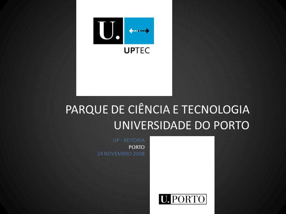 PARQUE DE CIÊNCIA E TECNOLOGIA UP - REITORIA PORTO 24 NOVEMBRO 2008 UNIVERSIDADE DO PORTO