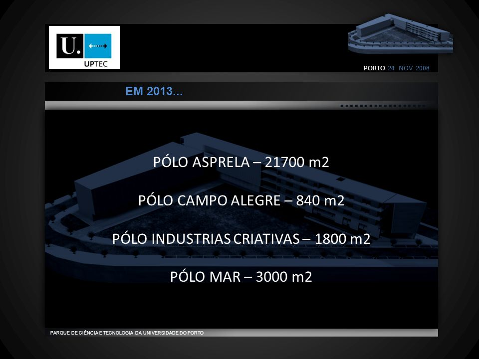                                    PARQUE DE CIÊNCIA E TECNOLOGIA DA UNIVERSIDADE DO PORTO EM 2013...