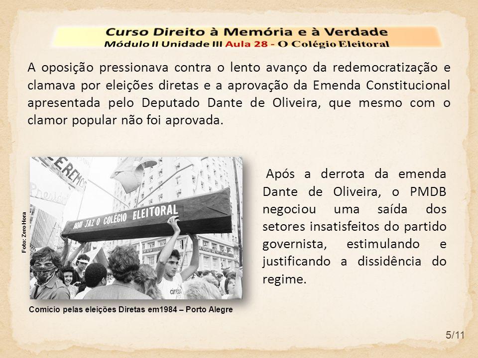 5/11 A oposição pressionava contra o lento avanço da redemocratização e clamava por eleições diretas e a aprovação da Emenda Constitucional apresentada pelo Deputado Dante de Oliveira, que mesmo com o clamor popular não foi aprovada.