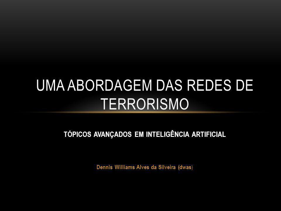 TÓPICOS AVANÇADOS EM INTELIGÊNCIA ARTIFICIAL Dennis Williams Alves da Silveira (dwas ) UMA ABORDAGEM DAS REDES DE TERRORISMO