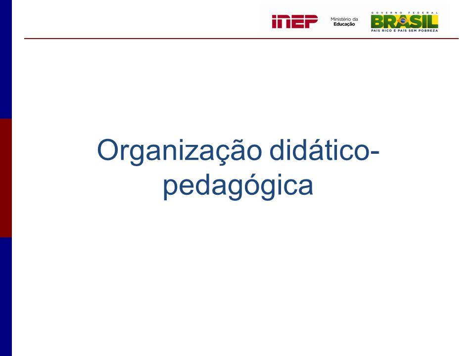 Organização didático- pedagógica
