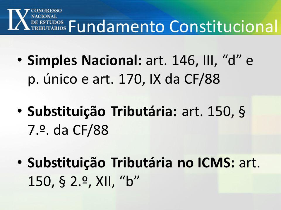 Fundamento Constitucional • Simples Nacional: art.