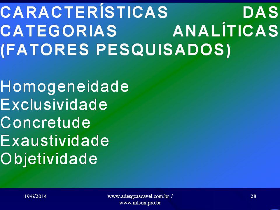 19/6/2014www.adesgcascavel.com.br / www.nilson.pro.br 27