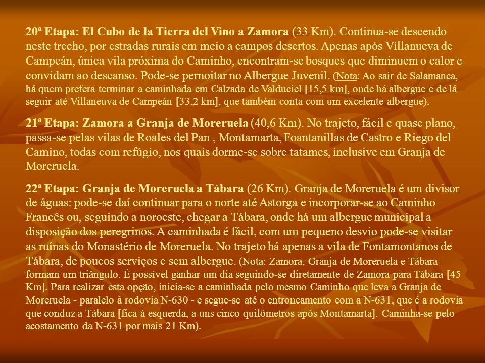 20ª Etapa: El Cubo de la Tierra del Vino a Zamora (33 Km).
