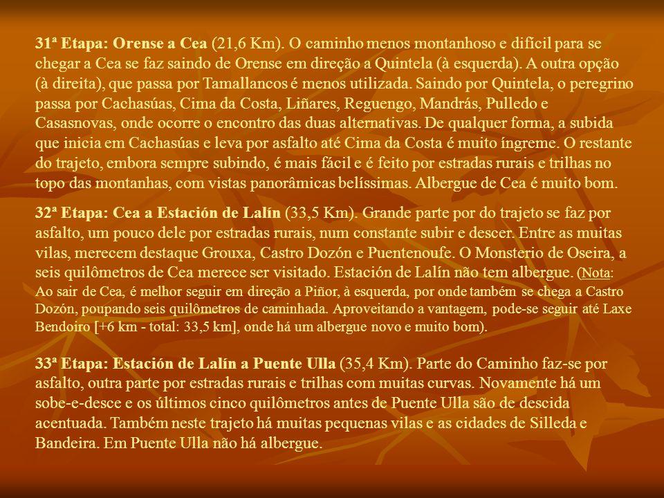 31ª Etapa: Orense a Cea (21,6 Km).