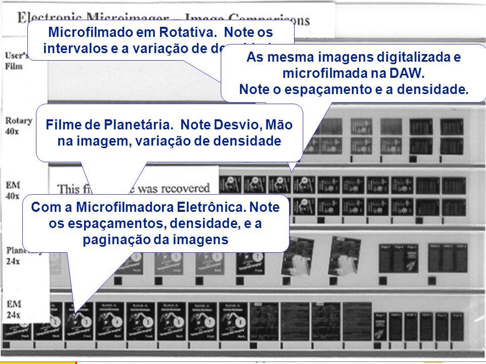 Kodak Brasileira - Document Imaging - Cássio Vaquero Erros Típicos de Microfilmagem F B Enrosco Espaço em Braco Densid. Variável Vãos Distorsão Cantos