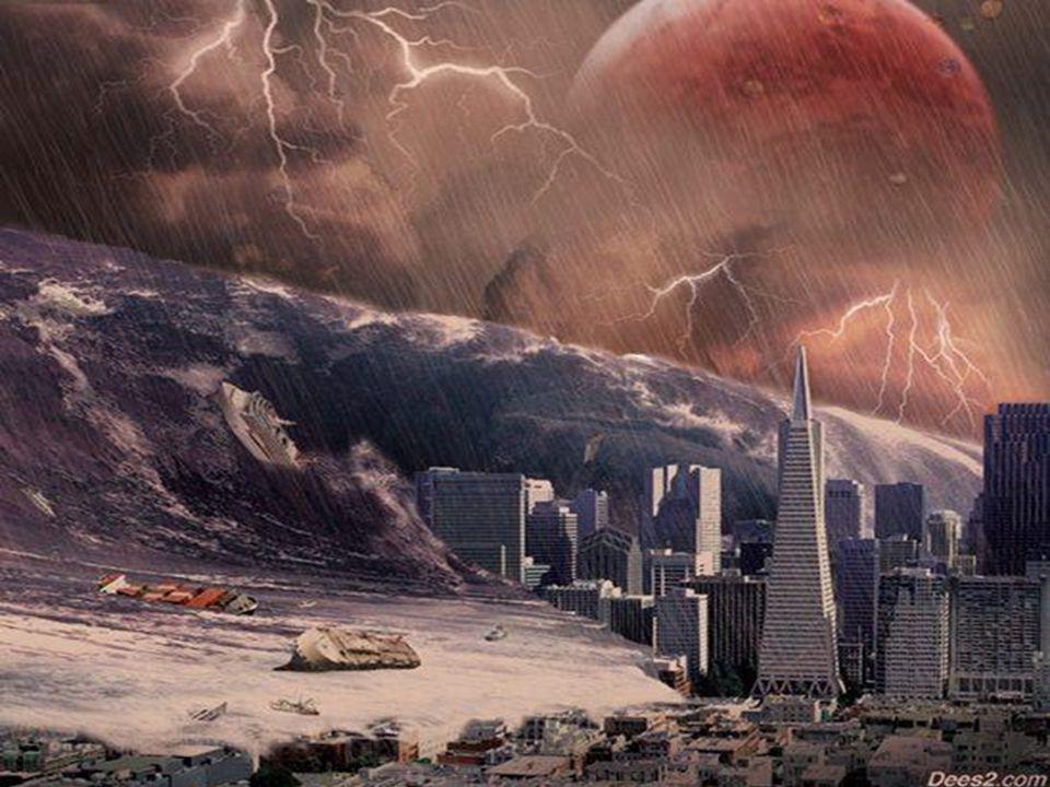 Milhões de meteoros serão lançados em direção à Terra. Terremotos, tsunamis e vulcões completarão o cenário de destruição no planeta.