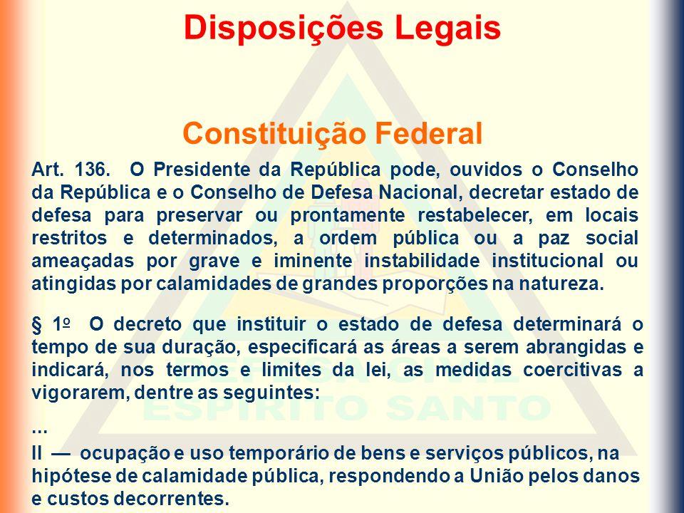 Art. 136. O Presidente da República pode, ouvidos o Conselho da República e o Conselho de Defesa Nacional, decretar estado de defesa para preservar ou