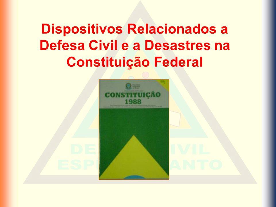 Dispositivos Relacionados a Defesa Civil e a Desastres na Constituição Federal