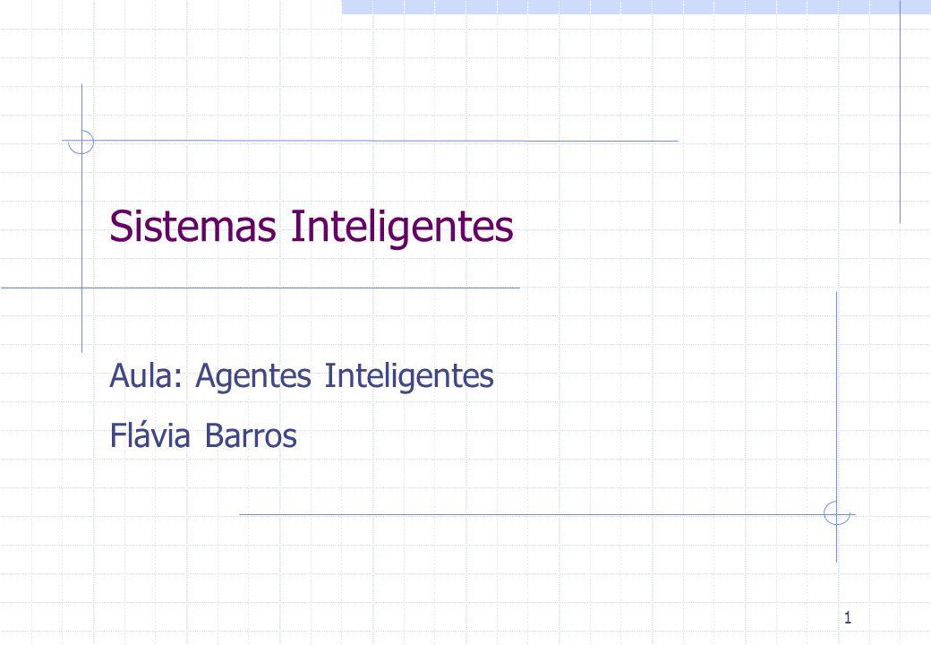1 Sistemas Inteligentes Aula: Agentes Inteligentes Flávia Barros