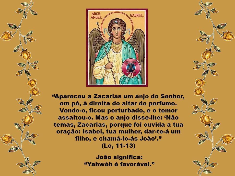 """Caríssimos, Zacarias era da família de Abias e sacerdote no Templo. No seu turno, adentrou-se no Santuário do Senhor, o """"Sanctus"""" para queimar o incen"""