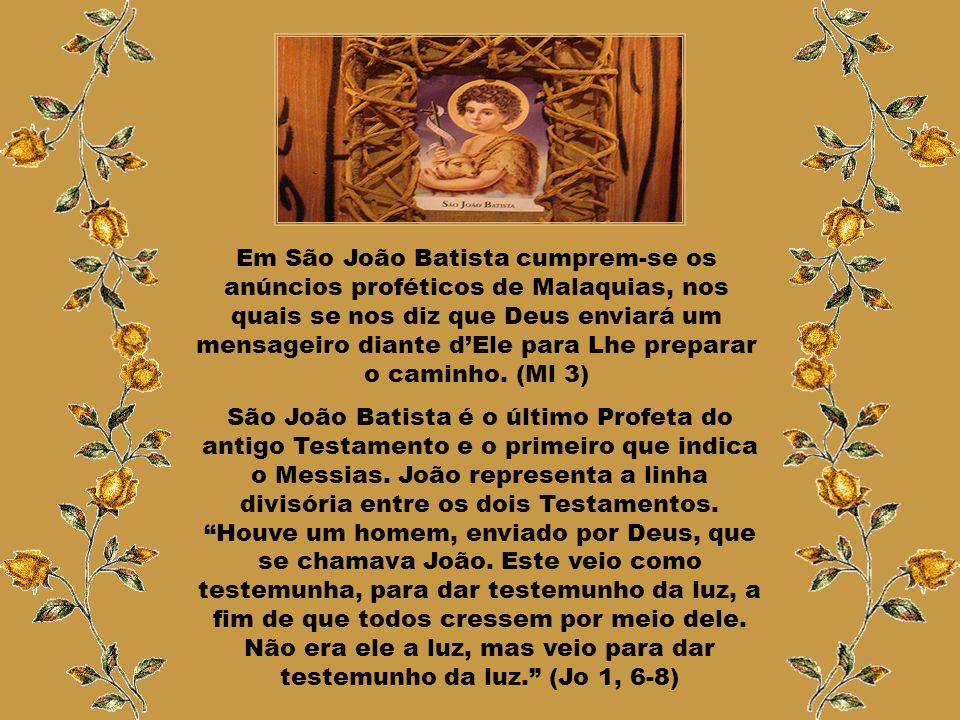 """""""O Arcanjo Gabriel anuncia a Zacarias os três motivos de alegria pelo nascimento do menino: primeiro, porque lhe concederá uma santidade extraordinári"""