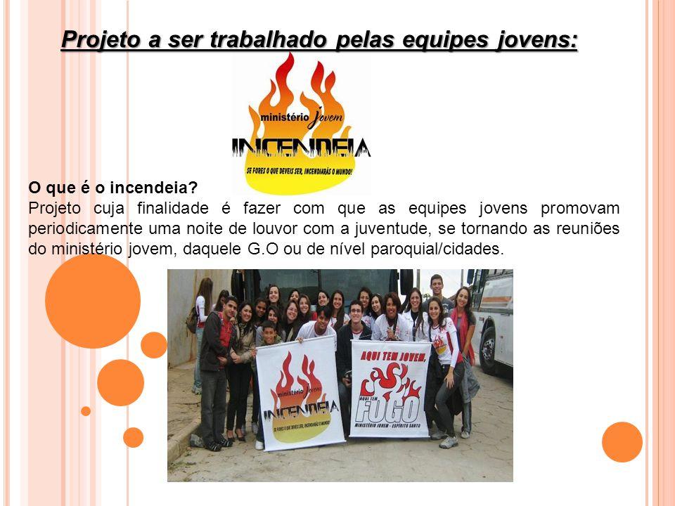 Projeto a ser trabalhado pelas equipes jovens: O que é o incendeia.