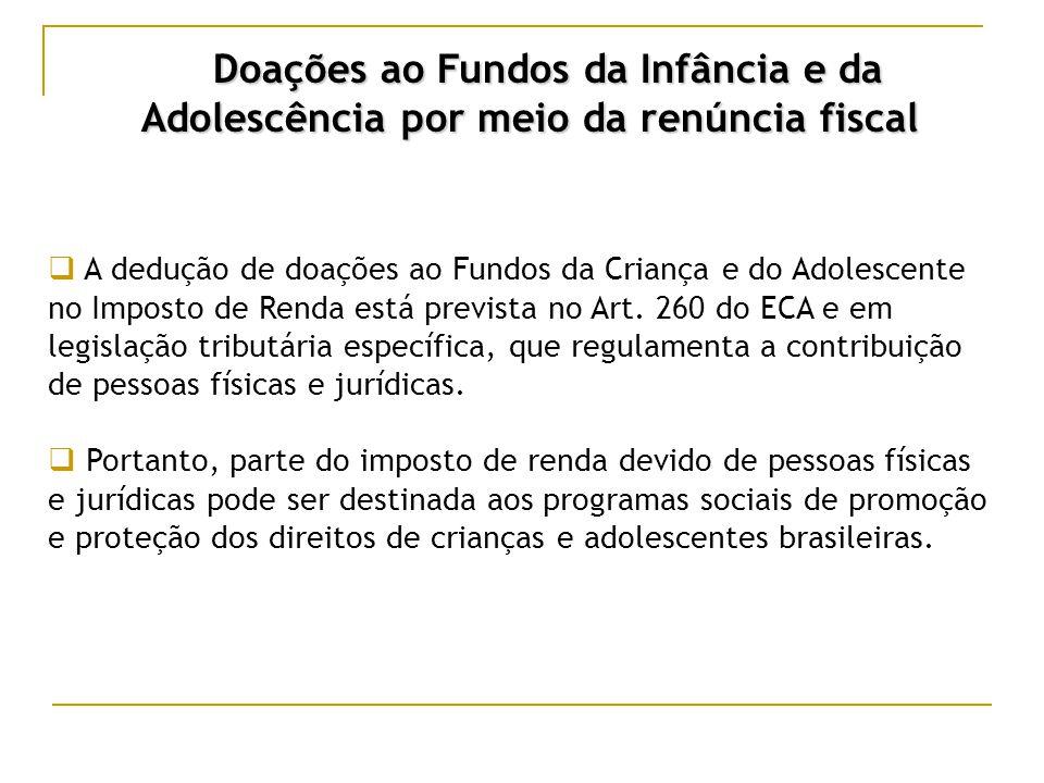 Doações ao Fundos da Infância e da Adolescência por meio da renúncia fiscal Quem pode destinar seu Imposto .