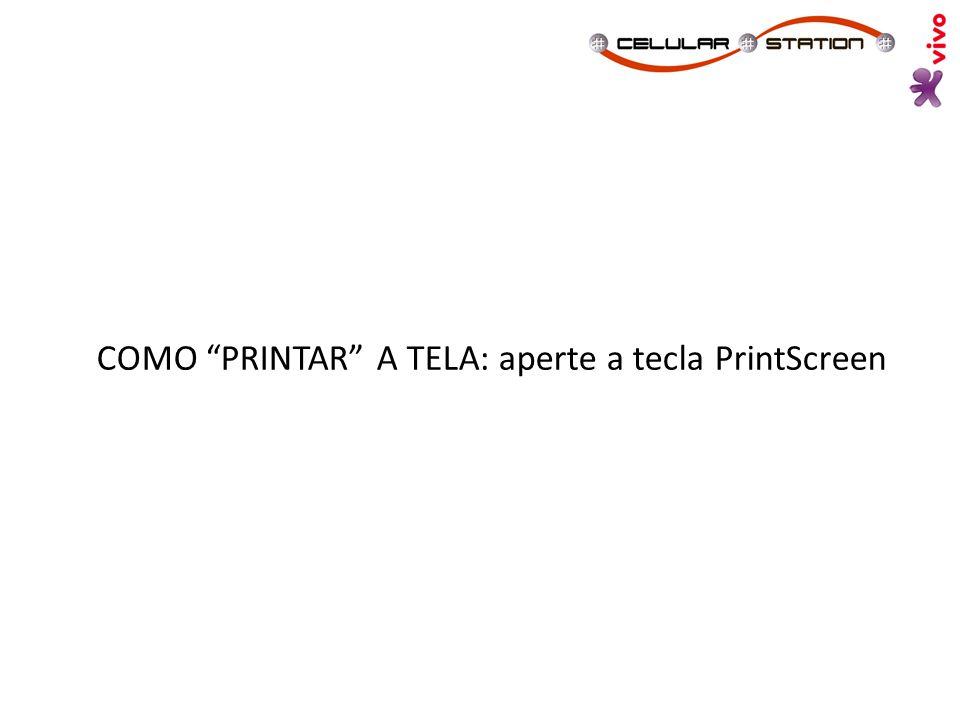 """COMO """"PRINTAR"""" A TELA: aperte a tecla PrintScreen"""