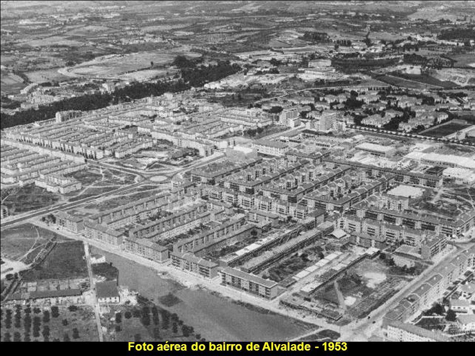 Foto aérea do bairro de Alvalade - 1953