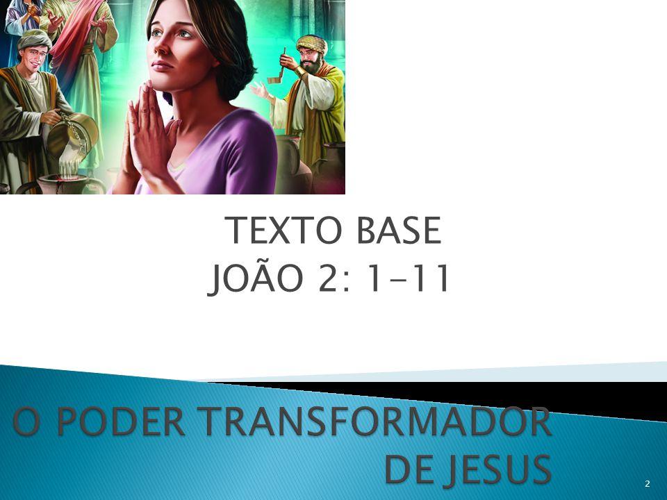 TEXTO BASE JOÃO 2: 1-11 2