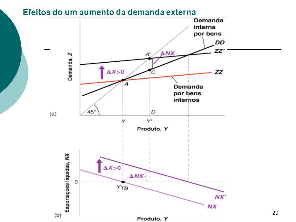 20 Efeitos do um aumento da demanda externa