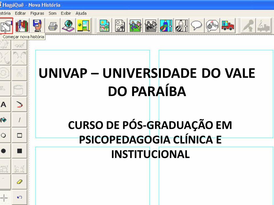UNIVAP – UNIVERSIDADE DO VALE DO PARAÍBA CURSO DE PÓS-GRADUAÇÃO EM PSICOPEDAGOGIA CLÍNICA E INSTITUCIONAL
