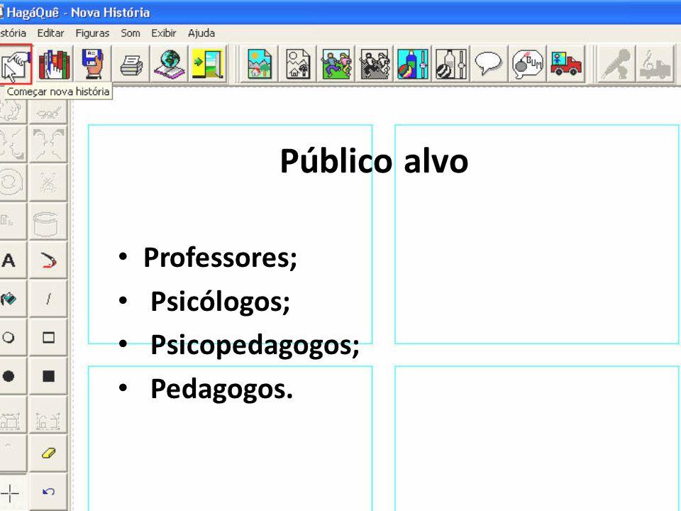 Público alvo • Professores; • Psicólogos; • Psicopedagogos; • Pedagogos.