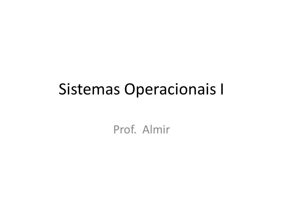 Sistemas Operacionais I Prof. Almir