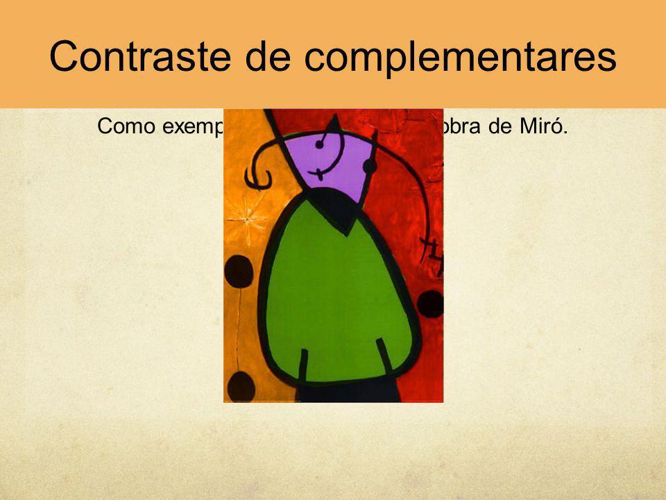 Como exemplo apresenta-se uma obra de Miró.