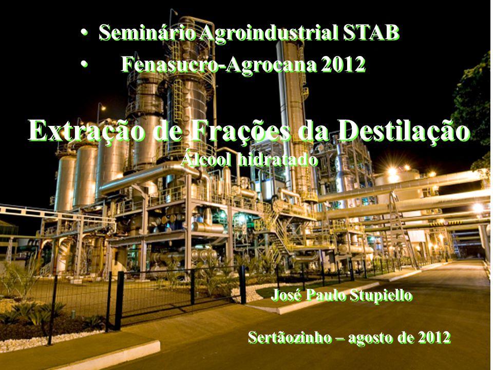 Extração de Frações da Destilação Álcool hidratado • Seminário Agroindustrial STAB • Fenasucro-Agrocana 2012 • Seminário Agroindustrial STAB • Fenasuc
