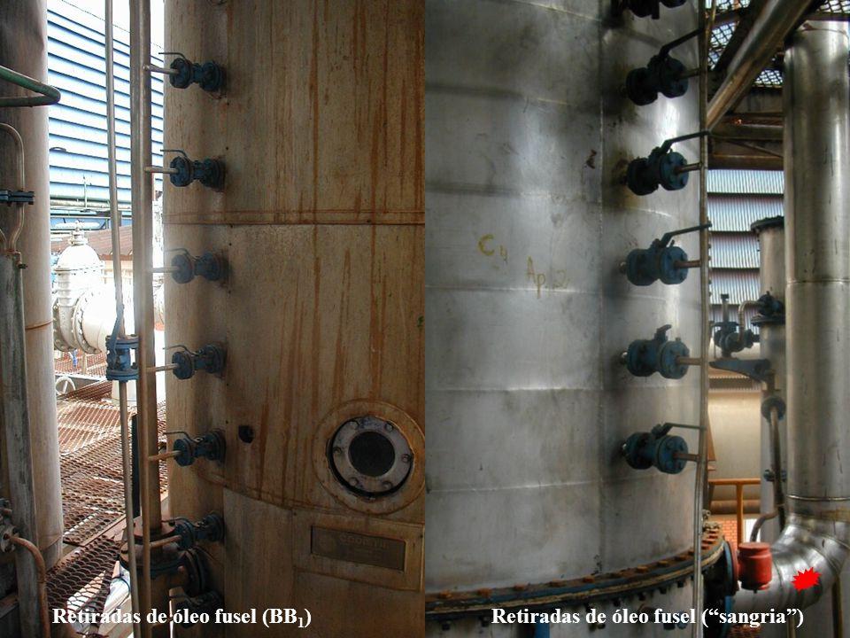 """Retiradas de óleo fusel (BB 1 )Retiradas de óleo fusel (""""sangria"""")"""