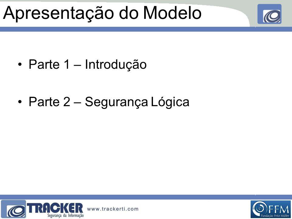 Apresentação do Modelo •Parte 1 – Introdução •Parte 2 – Segurança Lógica