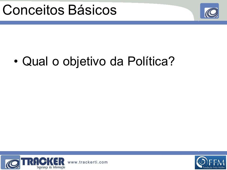 Conceitos Básicos •Qual o objetivo da Política?