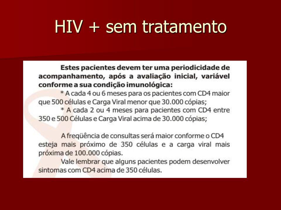 HIV + sem tratamento